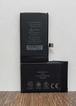 Батарея iPhone X 10 3190 mA аккумулятор усиленная акб