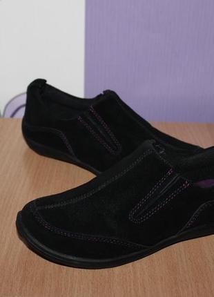 Замшевые туфли мокасины lands end разм 31 по стельке 19.5 см