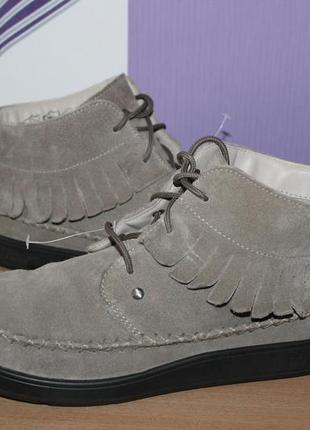 Ботинки hotter замш разм 41 по стельке 26.5 см