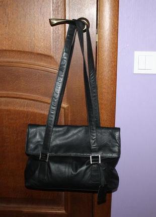 Кожаная сумка с длинными ручками ava