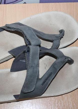 Кожаные шлепки шлепанцы вьетнамки tribord
