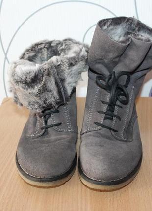Замшевые полусапожки ботинки next италия