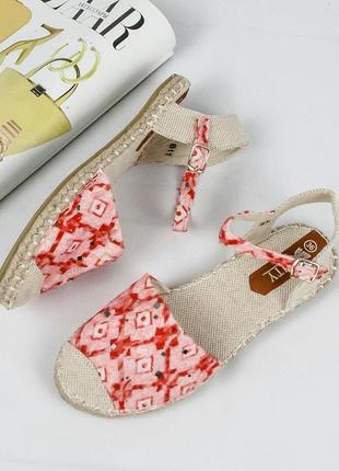 Босоніжки -еспадрільі на плетенiй підошві