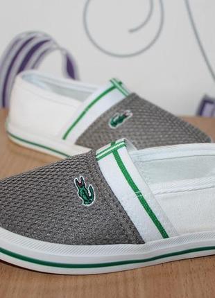 Детские туфли мокасины lacoste