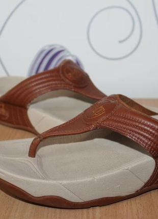 Кожаные шлепки шлепанцы вьетнамки fitflop разм 37