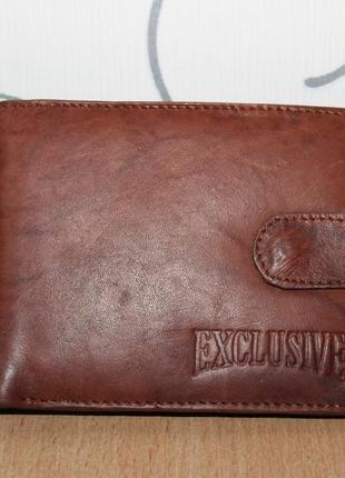 Кожаный кошелек портмоне exclusive
