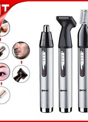 Триммер 3 в 1 для стрижки висков шеи бороды носа ушей GM-3107 ...