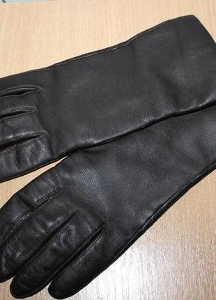 Кожаные  темно коричневые перчатки john lewis подклад кашемир