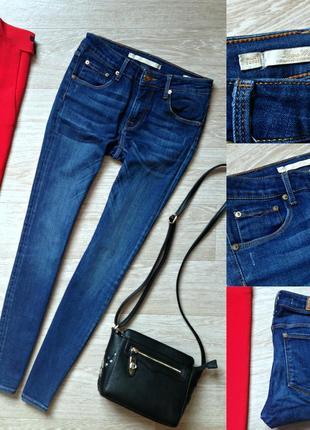 Джинсы скинни zara из добротного джинса