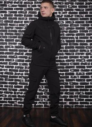 Костюм черный демисезонный softshell intruder. куртка черная, ...