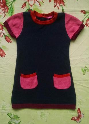 Теплая туника-платье для девочки 2-3 года