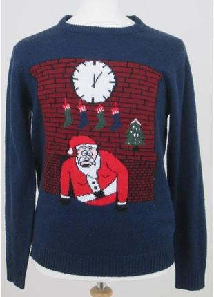 Мужской свитер дед мороз, джемпер. новогодний свитер