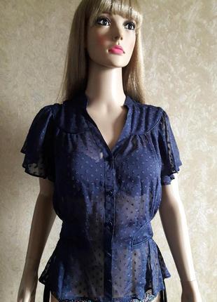 Рубашка блузка с баской