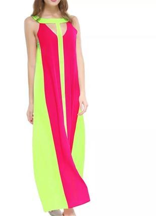 Длинное пляжное платье. пляжная туника накидка на купальник