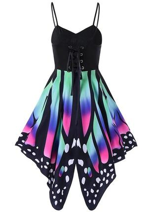 Яркий сарафан. платье бабочка 52-60 размер