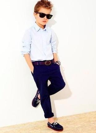 Легкие синие брюки
