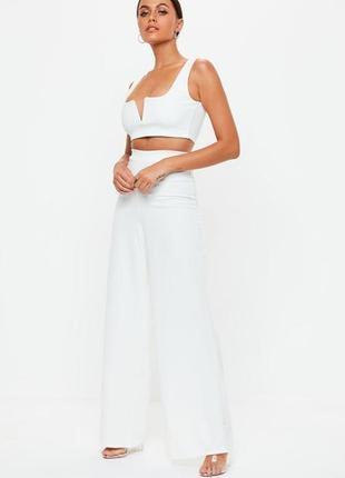 Лёгкие широкие белые брюки