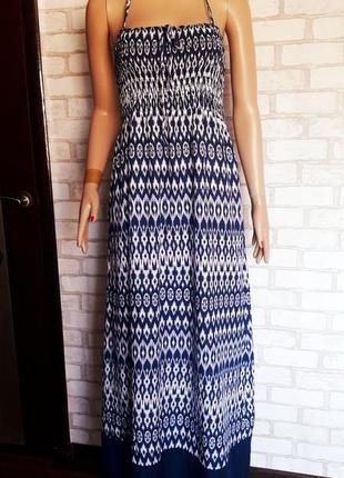 Красивый длинный сарафан. пляжное платье 🌷marks spencer🌷