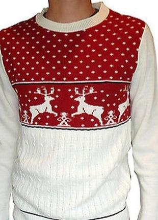 Мужской новогодний свитер. джемпер