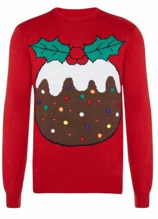 Новогодний свитер. джемпер. вязаная кофта. oversize