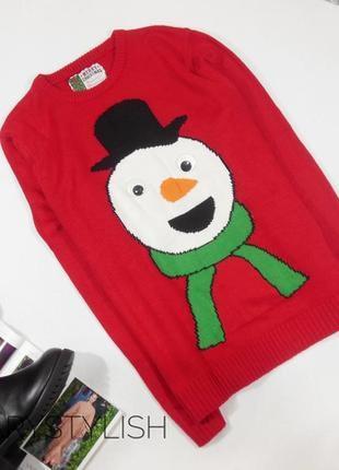 Новогодний свитер. джемпер. тёплый свитер оверсайз