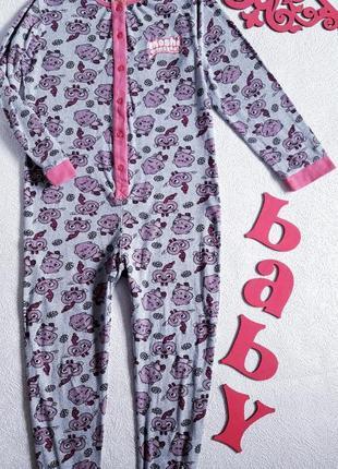Пижама 100% коттон. кигуруми на девочку 9/10 лет. спальный хло...