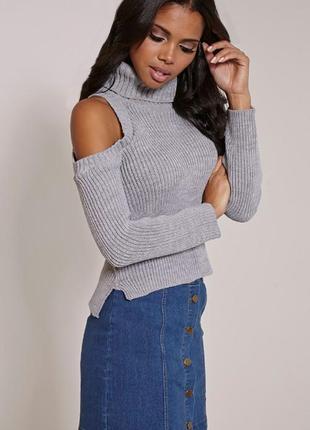 Вязаный свитер ❤️ missguided❤️ свитер открытые плечи. вязаный ...