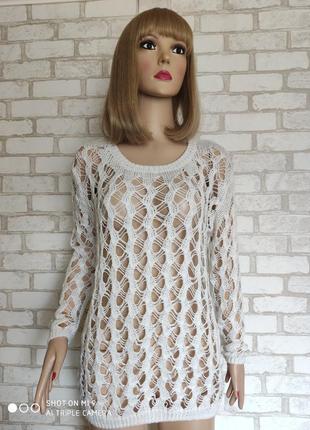 Вязаный свитер в крупную сетку ❤️river island❤️ белый джемпер ...