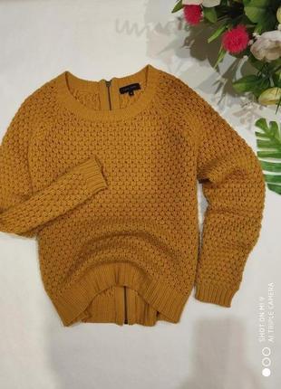 Горчичный свитер new look. вязаный свитер крупной вязки