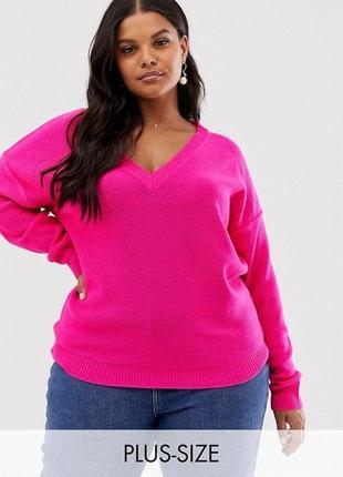 Яркий вязаный свитер. свитер оверсайз