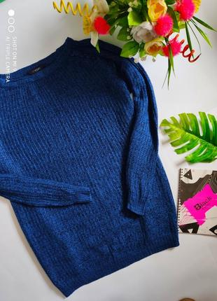 Вязаный свитер оверсайз. свитер большой размер