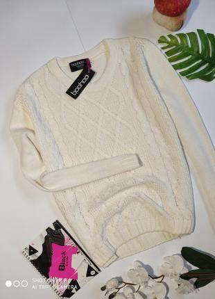 Вязаный свитер boohoo. свитер оверсайз