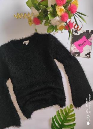Свитер травка. вязаный свитер расклешенный рукав