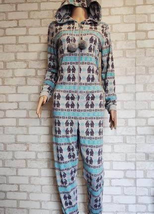 Пижама трикотажная. кигуруми. слип. комбинезон новый