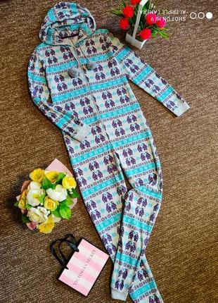 Пижама на байке. кигуруми тёплое. слип