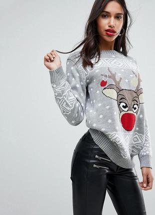 Свитер новогодний. новогодний свитер с оленем 🦌