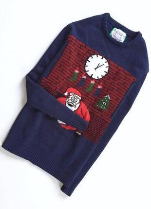 Свитер с дедом морозом. новогодний свитер