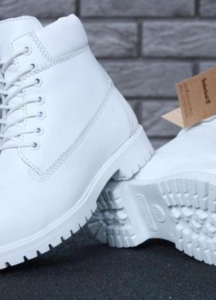 Ботинки женские зимние💖timberland white💖тимберленд белые с мех...