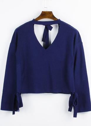 Нежный свитер фиолетовый, свободный свитер с чокером, свитер с...