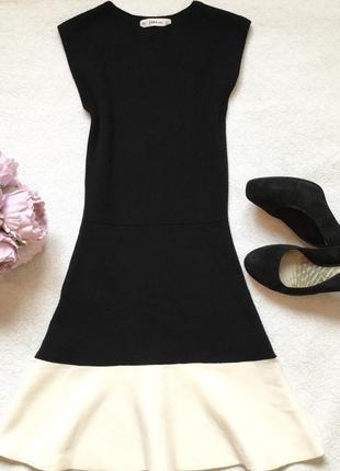 Платье трикотажное zara размер s