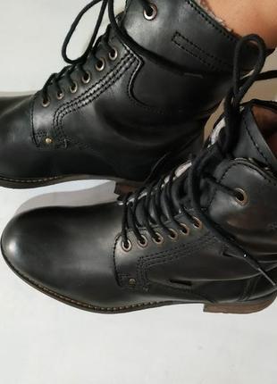 Ботинки зимние,del-tex, мех, брендовая обувь, вещи в распродаже!