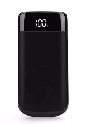 POWER BANK Y10 20000 mAh Black с дисплеем, на 2 устройства