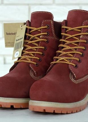 ✳️зимние✳️женские ботинки timberland тимберленд с натуральным ...