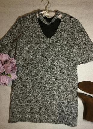 Платье тёплое с чокером papaya размер 18/20