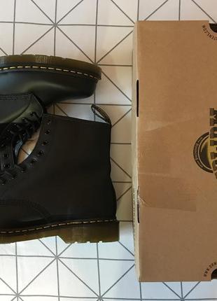 Ботинки dr. martens 1460 black smooth us12, eu46