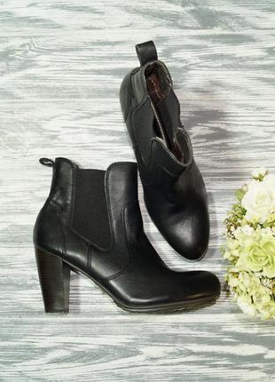 🌿40🌿zign. кожа. классные ботинки на устойчивом каблуке