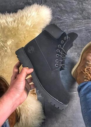 🍒timberland black fur🍒зимние женские ботинки тимберленд с мехо...