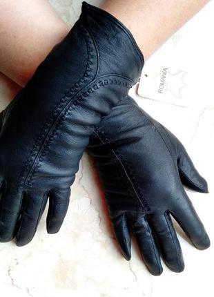 Элегантные кожаные женские перчатки.пр-во румыния