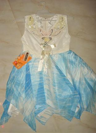 Новогоднее платье снежинки, звездочки