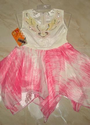 Новогоднее платье конфетки ,розочки ,хлопушки 2-4 лет
